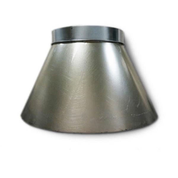 Фартук дефлектора d=322 мм для вент.трубы d=315 мм, с хомутом
