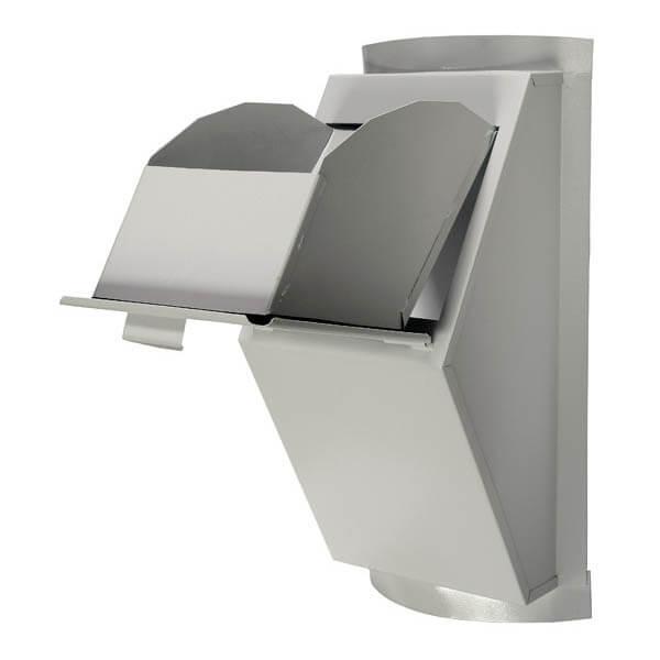 Клапан мусоропровода загрузочный КЗМ-420, h=800 мм, ширина 400 мм, ковш 15л, ТДХ120-03