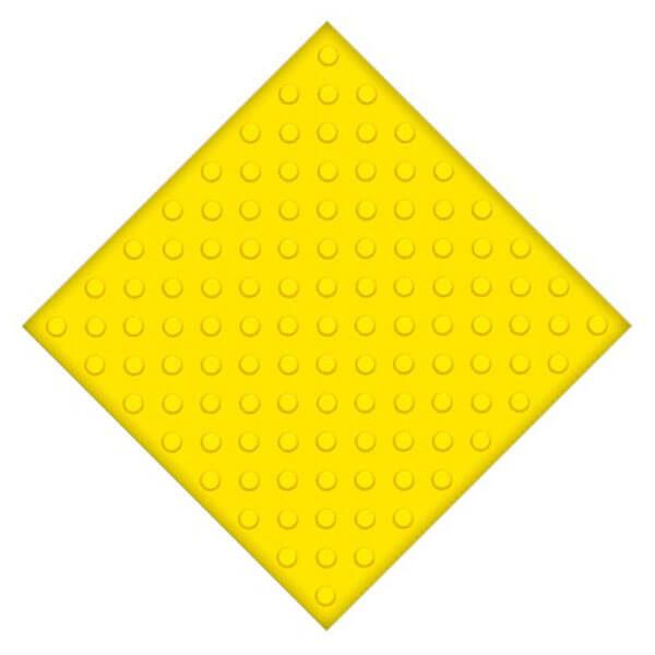 Самоклеющаяся противоскользящая тактильная плитка ПВХ 500x500 мм конусы шахмат