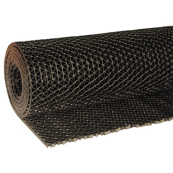 Рулонное покрытие Зигзаг 12000х1200х8 мм черный