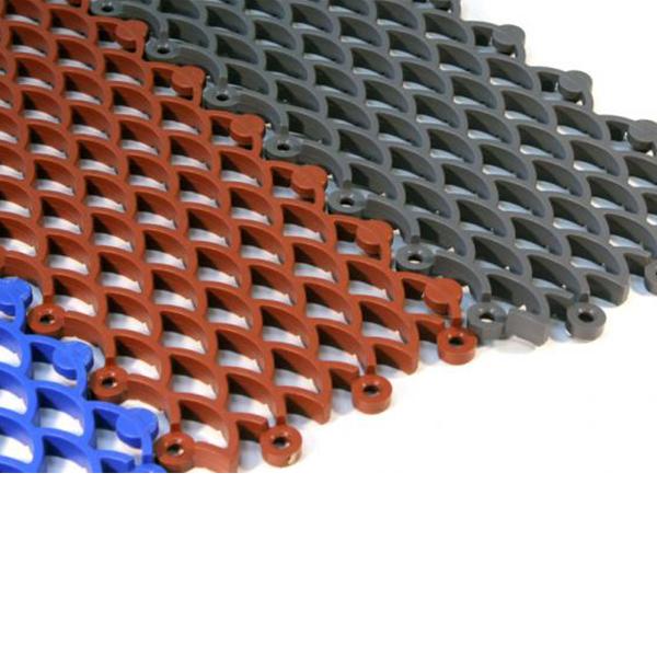 Грязезащитные модульные напольные покрытия Барьер 10 395x100x10 красный