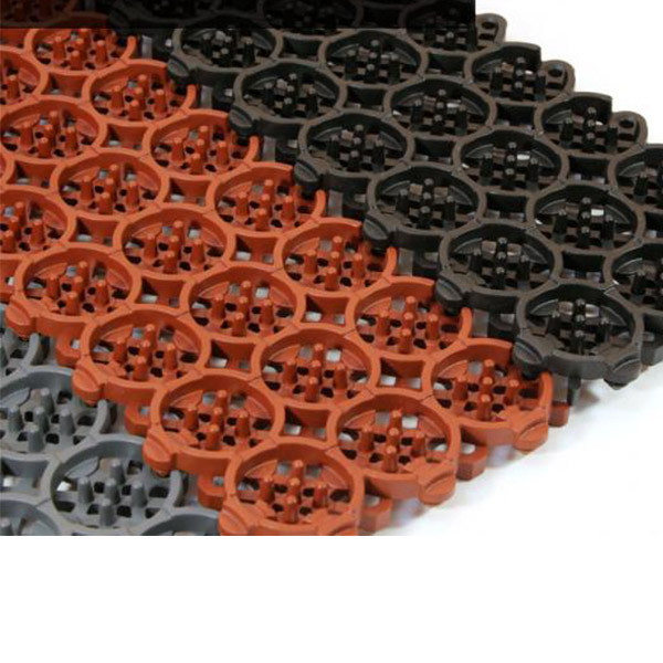 Грязезащитные модульные напольные покрытия Премиум 410x100x15 коричневый