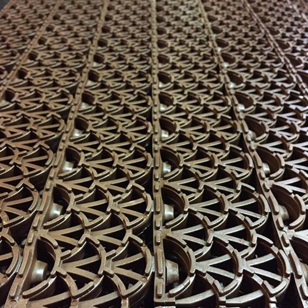 Грязезащитные модульные напольные ПВХ-покрытия Антишпилька PRO 388x52x20 коричневый