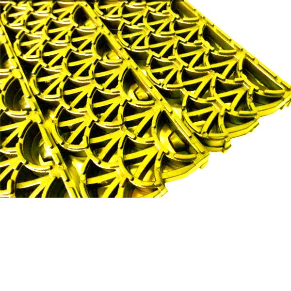 Грязезащитные модульные напольные ПВХ-покрытия Антишпилька PRO 388x52x20 желтый