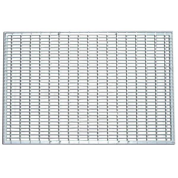 Придверная грязезащитная стальная решетка (ячеистая) 590х390x20 мм