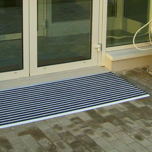 Придверная грязезащитная решетка Респект Резина + Текстиль