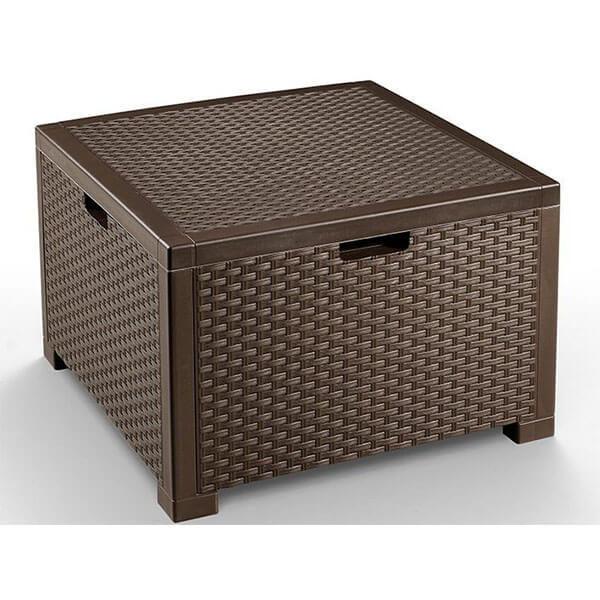 Сундук-столик для подушек Nebraska Rattan 64x64x40 коричневый