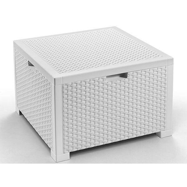 Сундук-столик для подушек Nebraska Rattan 64x64x40 белый
