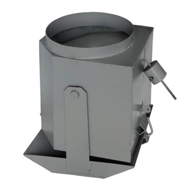 Шибер мусоропровода ШБР, 800x500x460, d=380 мм