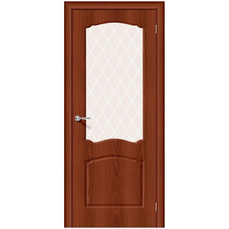 Межкомнатная дверь Альфа-2, Italiano Vero, White Сrystal