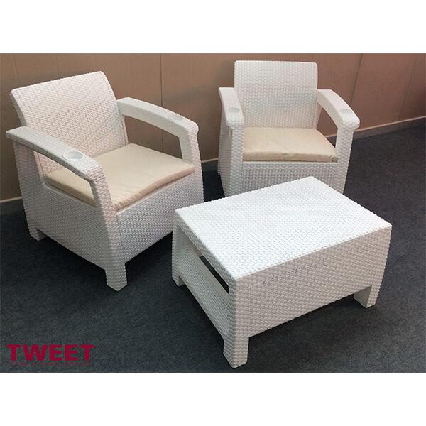 Набор мебели Tweet Balcony Set белый
