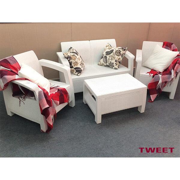 Комплект уличной мебели Tweet Terrace Set белый