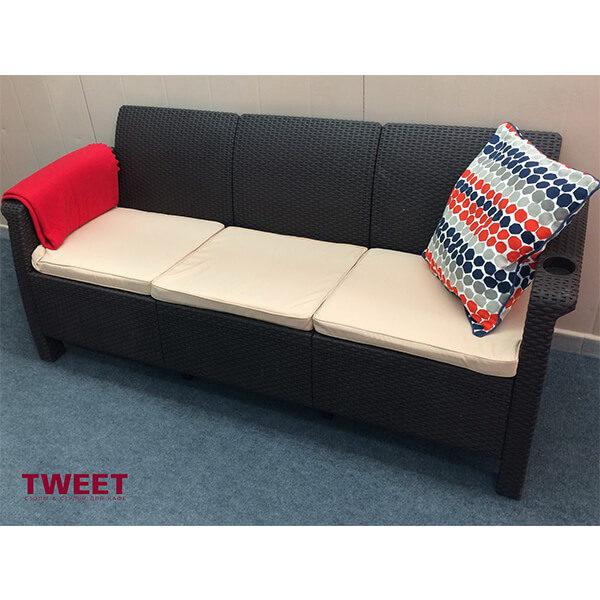 Трехместный диван Tweet Sofa 3 Seat венге