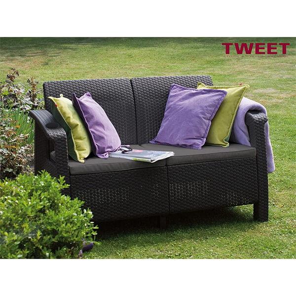 Двухместный диван Tweet Sofa 2 Seat венге