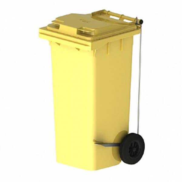 Контейнер для мусора 120 л с крышкой, педалью