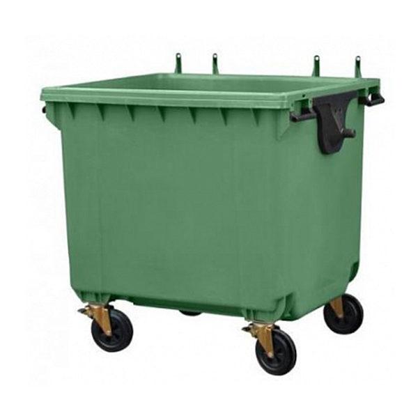 Контейнер для мусора 1100 л без крышки, на колесах