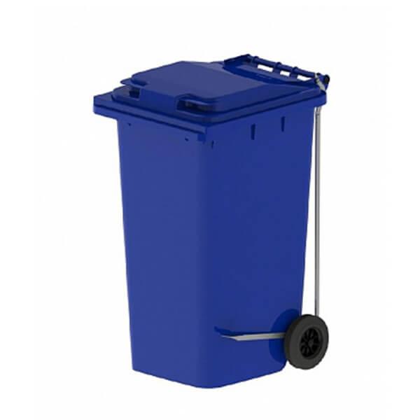 Контейнер для мусора 240 л с крышкой, педалью