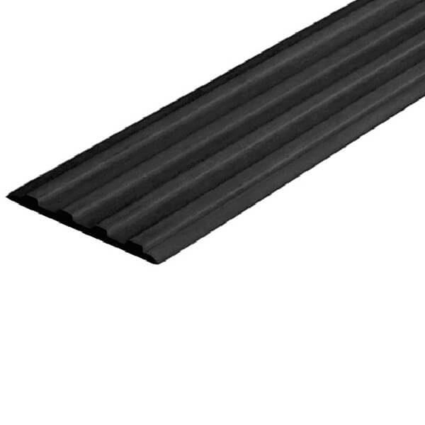 Противоскользящая тактильная направляющая самоклеющаяся полоса 20 мм черный