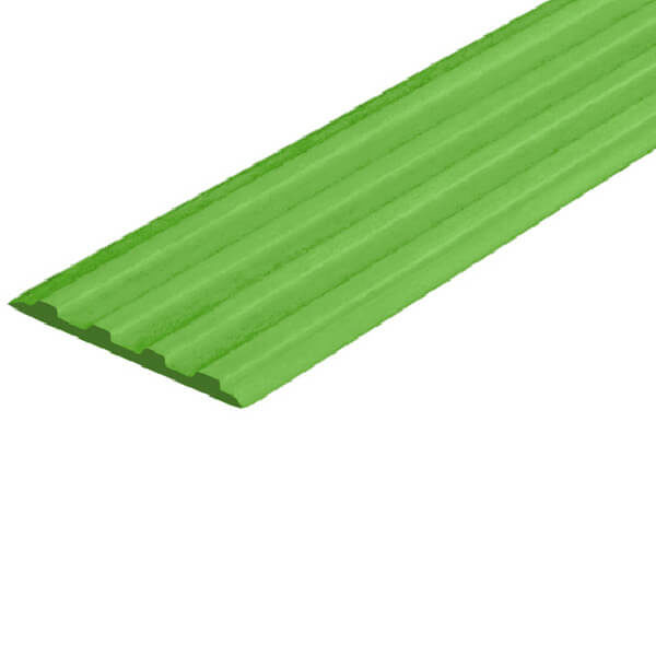 Противоскользящая тактильная направляющая самоклеющаяся полоса 20 мм зеленый