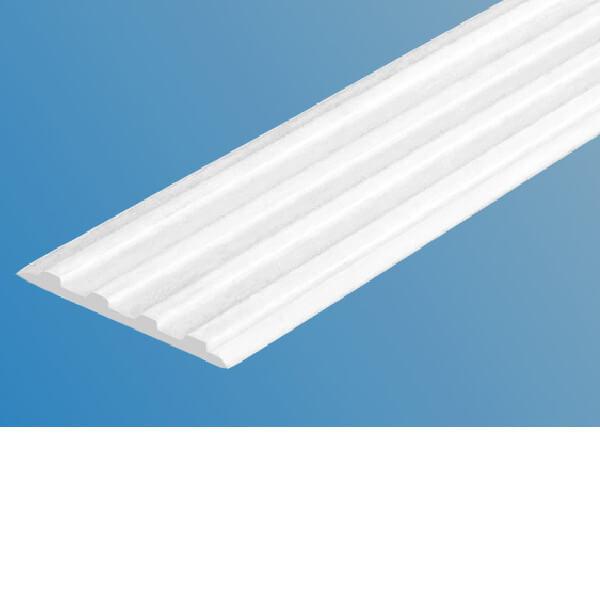 Противоскользящая тактильная направляющая самоклеющаяся полоса 20 мм белый