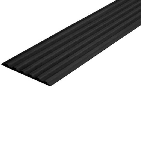Противоскользящая тактильная направляющая самоклеющаяся полоса 50 мм черный