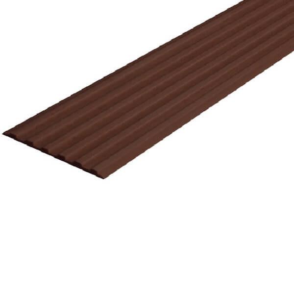 Противоскользящая тактильная направляющая самоклеющаяся полоса 50 мм темно-коричневый