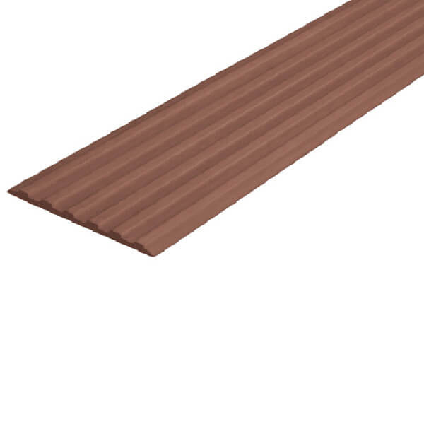 Противоскользящая тактильная направляющая самоклеющаяся полоса 50 мм коричневый