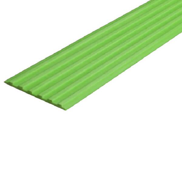 Противоскользящая тактильная направляющая самоклеющаяся полоса 50 мм зеленый