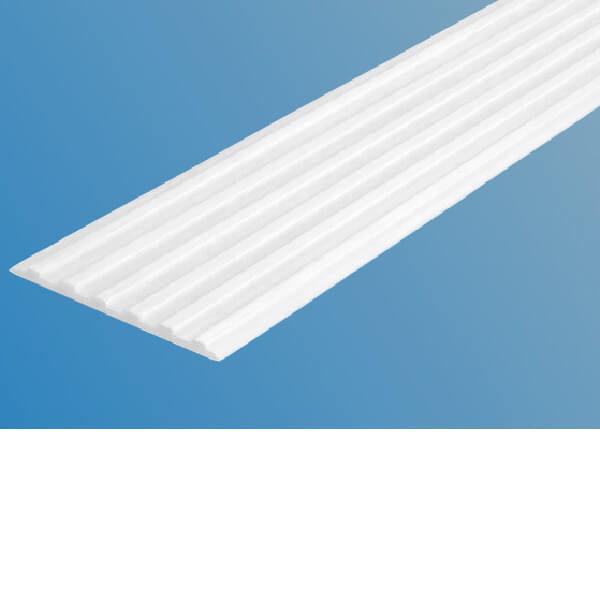 Противоскользящая тактильная направляющая полоса 50 мм без клеевого слоя, белый