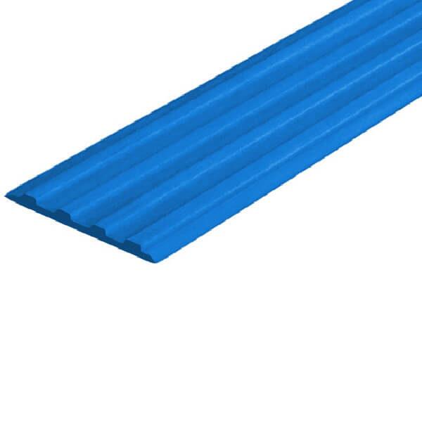 Противоскользящая тактильная направляющая самоклеющаяся полоса 29 мм синий