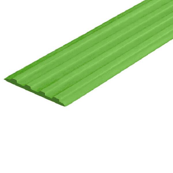 Противоскользящая тактильная направляющая самоклеющаяся полоса 29 мм зеленый