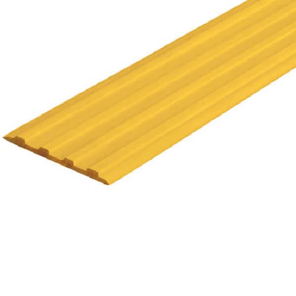 Противоскользящая тактильная направляющая самоклеющаяся полоса 29 мм желтый