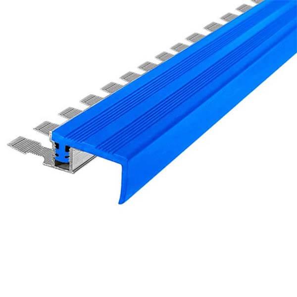 Закладной противоскользящий алюминиевый профиль FlexStep 2,7 м 25 мм/18 мм синий