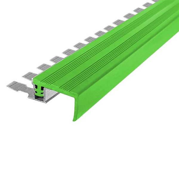Закладной противоскользящий алюминиевый профиль FlexStep 2,7 м 25 мм/18 мм зеленый