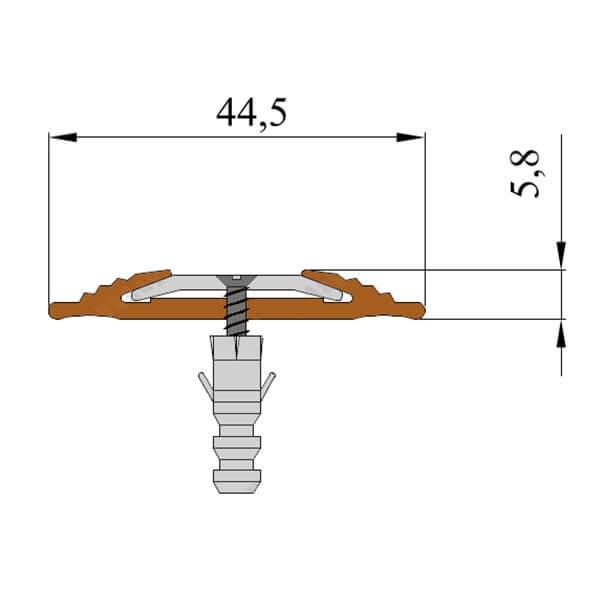 Противоскользящая анодированная алюминиевая полоса NoSlipper 2,7 м черный