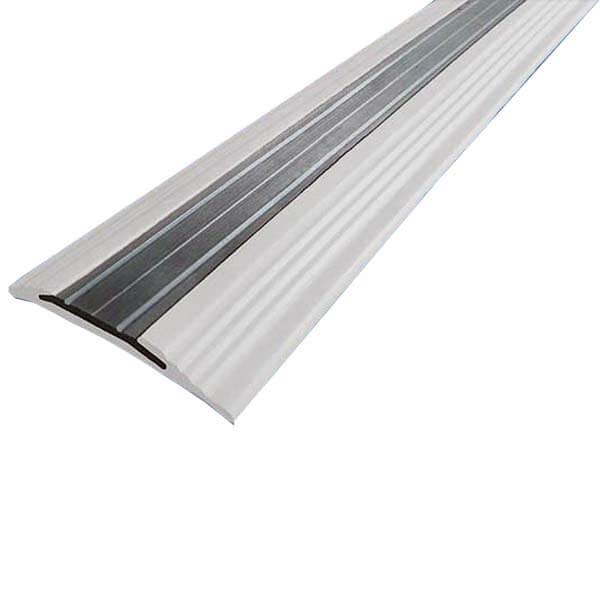 Противоскользящая анодированная алюминиевая полоса NoSlipper 2,7 м белый