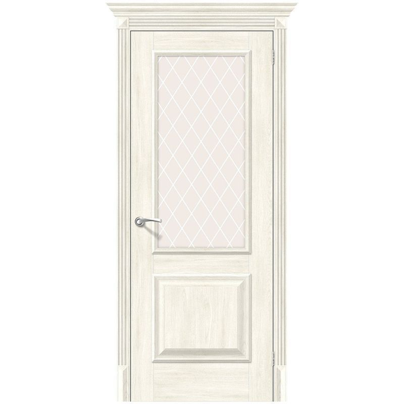 Межкомнатная дверь Классико-13, Nordic Oak, White Сrystal