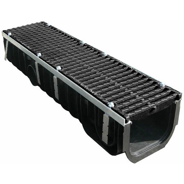 Лоток пластиковый MAX 200 с чугунными решетками (Е – до 60 т)