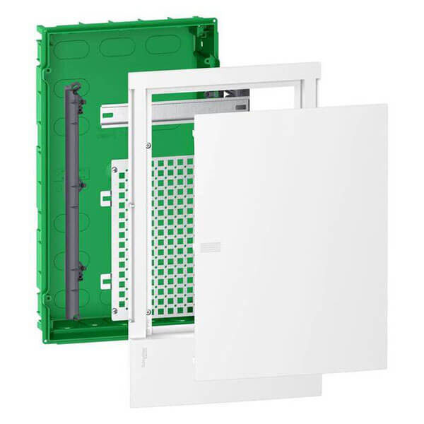 Щит встраиваемый Schneider Electric Mini Pragma мультимедийный 36 модулей белая дверца IP40