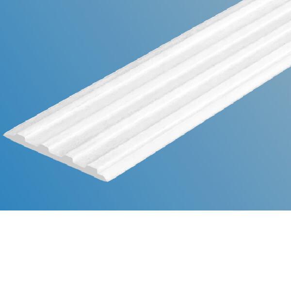 Противоскользящая тактильная направляющая полоса 29 мм без клеевого слоя, белый