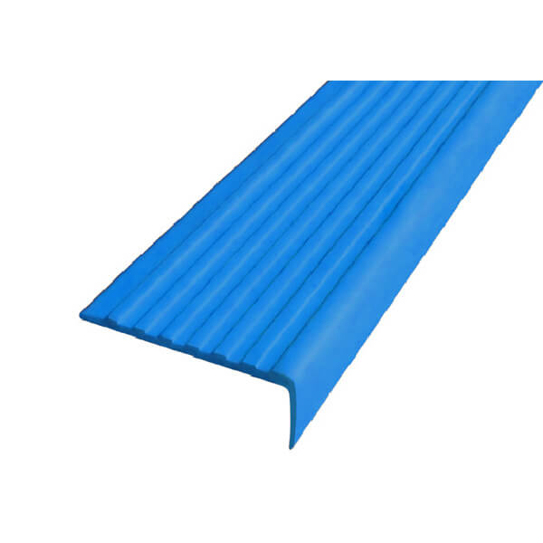 Противоскользящий угол для ступеней 55х17мм самоклеющийся, синий, 12,5м