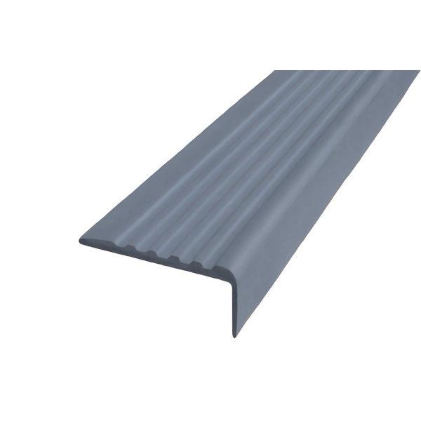 Противоскользящий угол для ступеней 44х17мм самоклеющийся, серый, 12,5м
