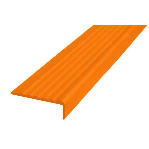 Противоскользящий угол для ступеней 44х17мм самоклеющийся, оранжевый, 12,5м