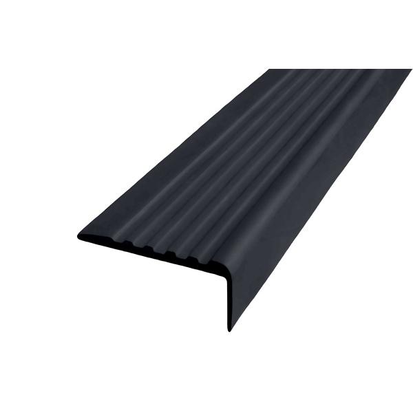 Противоскользящий угол для ступеней 44х17мм без клеевого слоя, черный, 12,5м