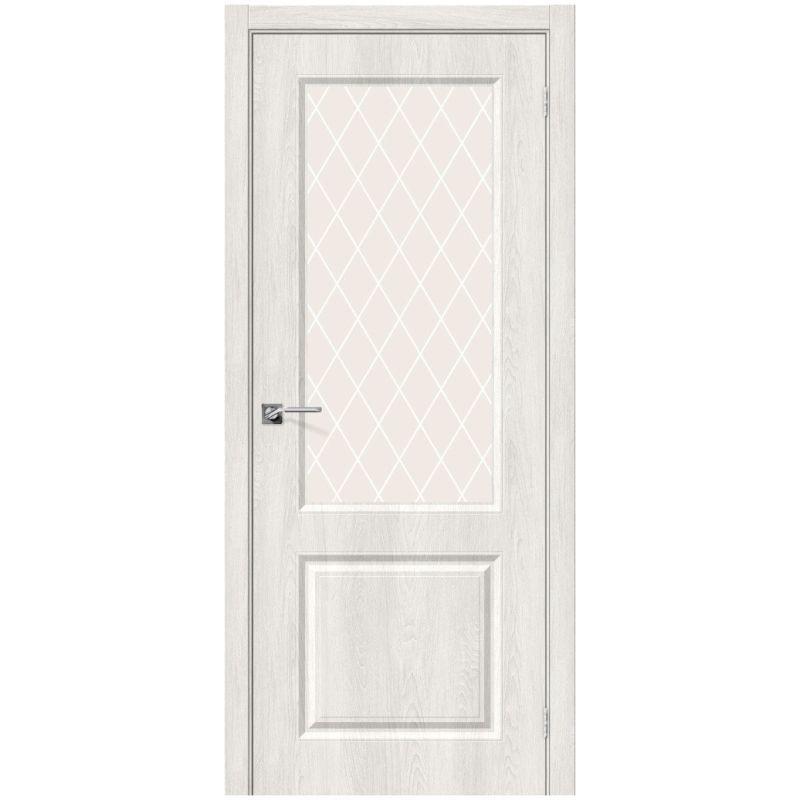 Межкомнатная дверь Скинни-13, Casablanca, White Сrystal