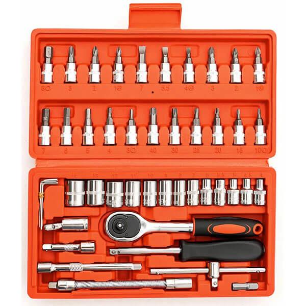 Набор инструментов для ремонта авто, 46 предметов