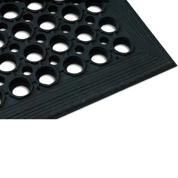 Грезезащитный резиновый мат для гостиниц 1520х910х14 мм черный