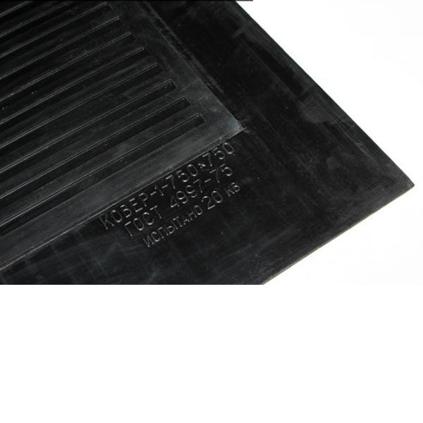 Грезезащитный резиновый коврик диэлектрический 600х600х6 мм