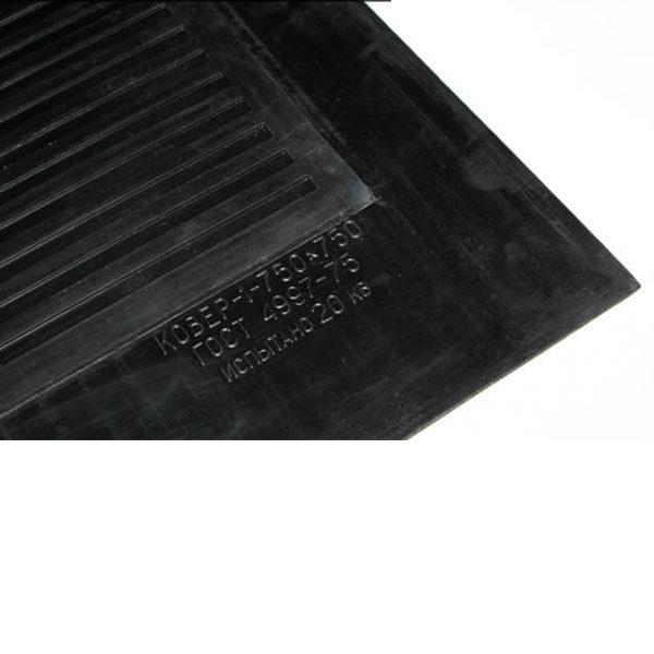 Грезезащитный резиновый коврик диэлектрический 750х750х6 мм