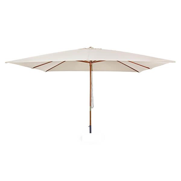 Зонт с центральной стойкой Неаполь, бежевый, прямоугольный